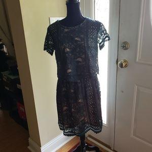 Xhilaration Crop Shirt & Skirt Outfit